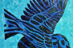 Blackbird-on-Blue-50x60cm