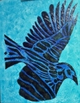 1_Blackbird-on-Blue-50x60cm