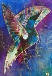 "Pink-Woodpecker 5x7"""